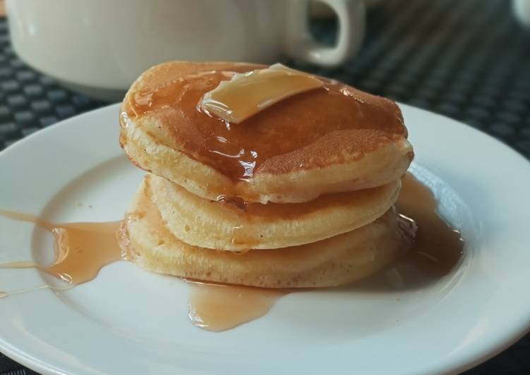 Resep Pancake lembut 🥞(ala hotel) Paling dicari