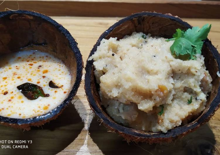South Indian upma and dahi chutney Deciding on Healthy Fast Food
