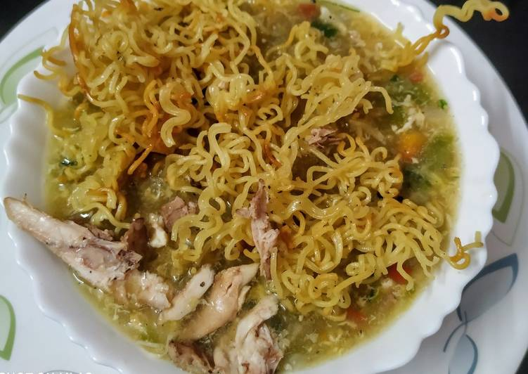 Steps to Prepare Homemade Chicken manchow soup