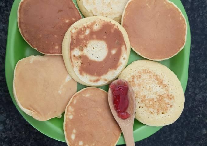 Petits pancakes light arôme de citron