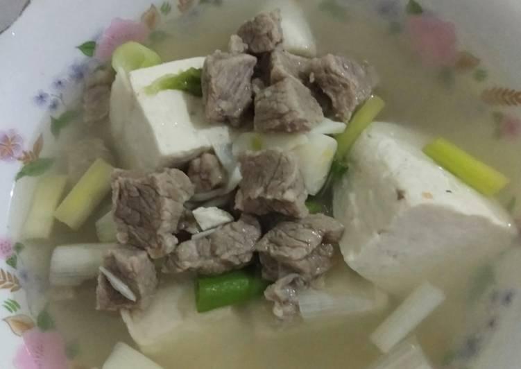Sup tahu daging sapi