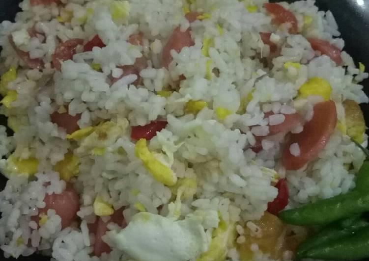 Resep Nasi Goreng Putih Super Praktis Paling Mudah