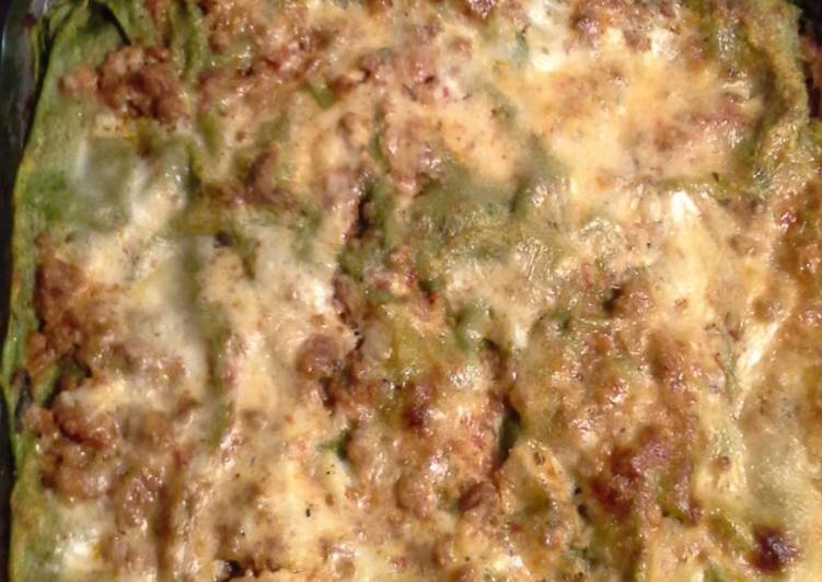 Recipe: Perfect Green lasagna