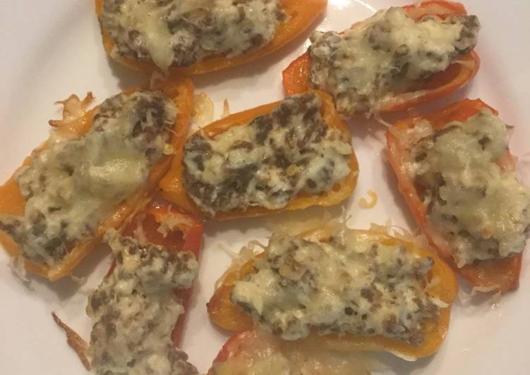 Italian sausage stuffed peppers