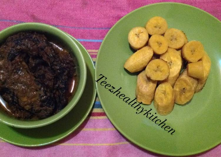 Steps to Make Most Popular Ogolale/oribotor with Unripe plantain