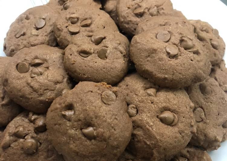 Resep Chocochips Chocolate Cookies ❤️, Bisa Manjain Lidah