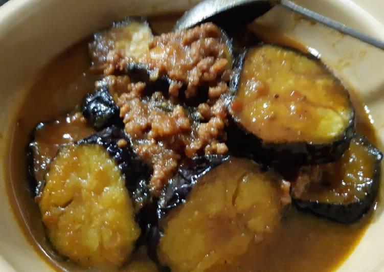 Semur Terong Jepang (Nasubi) Daging Cincang