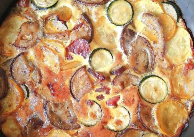 Comment Faire Des Frittata d'aubergine et de courgette