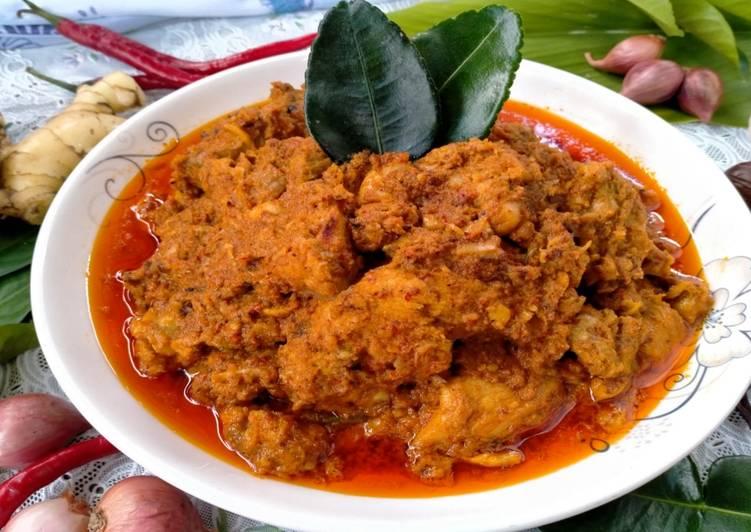 Resep Dan Cara Membuat Rendang Ayam Pedas