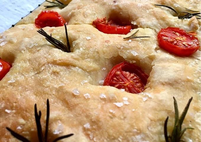 Overnight focaccia bread