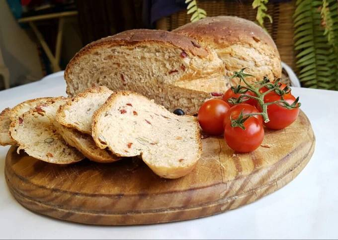 Cranberry and oat bread