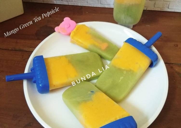 Mango Green Tea Popsicle