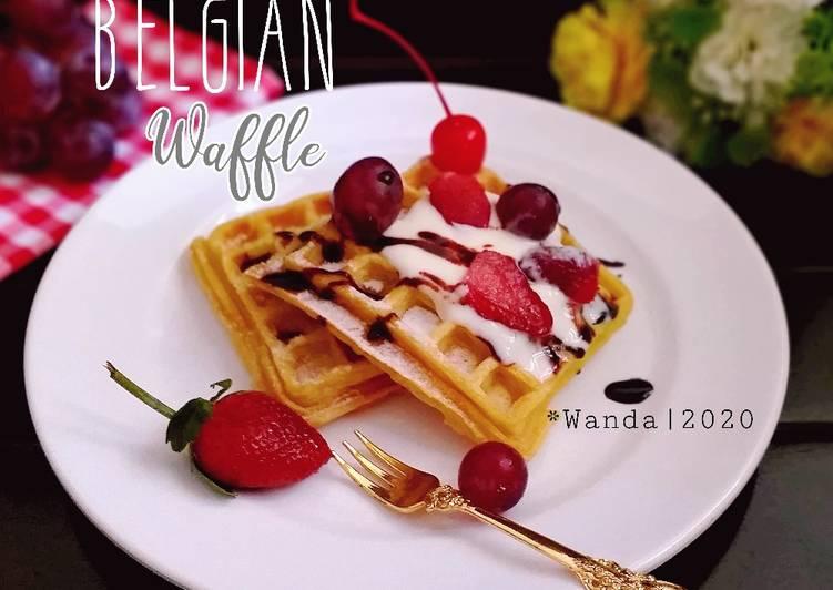 belgian-waffle-tanpa-susu