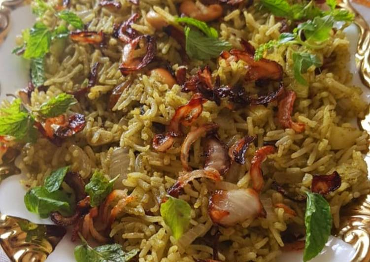 Recipe of Super Quick Homemade Mint Rice