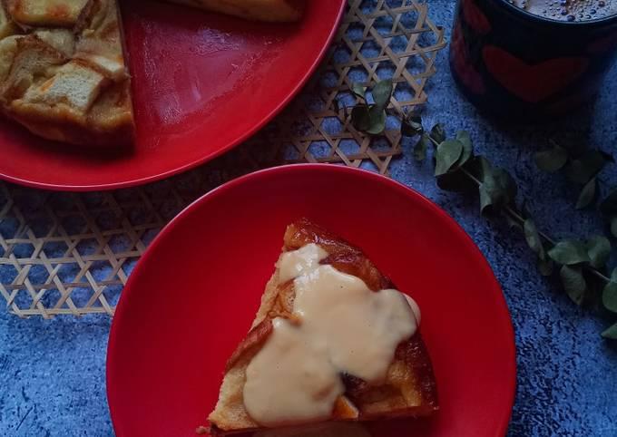 Puding Roti Butterscotch (Versi Periuk Tekanan)