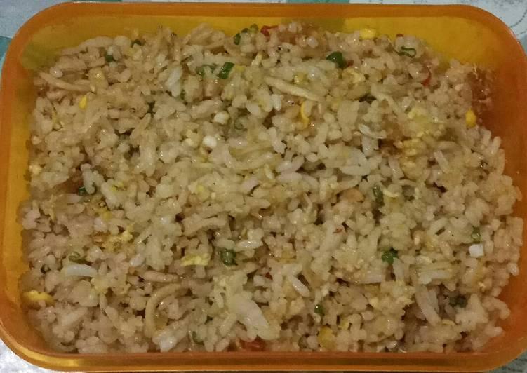 Nasi Goreng Margarin, Teri Asin Sayur, Telur & Keju