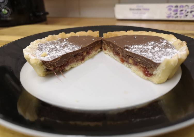 Easiest Way to Prepare Perfect Peanut Butter, Jam & Milk Chocolate Tarts #helpfulcooks