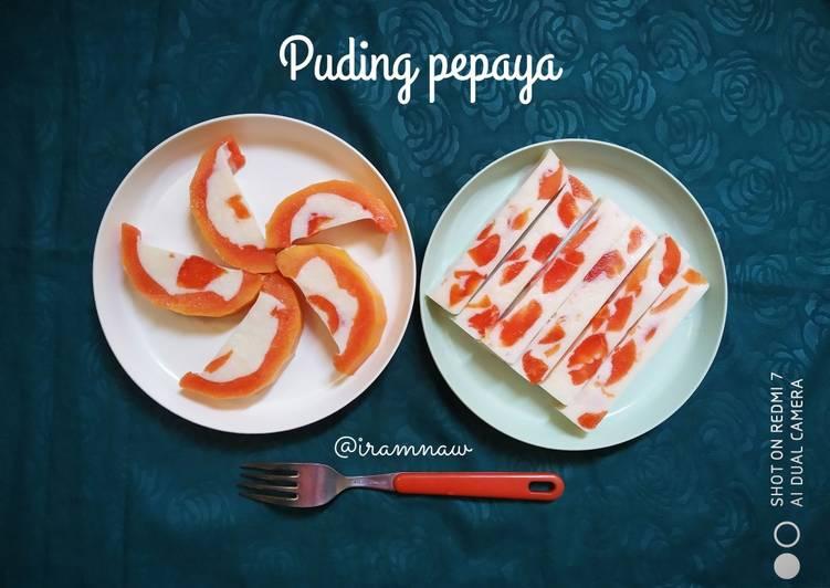 Pudding pepaya