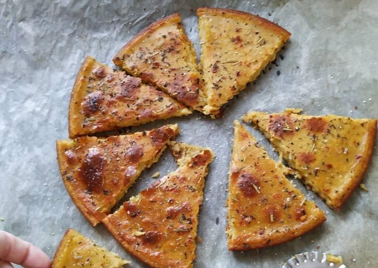 Italian gluten free oven-baked flatbread