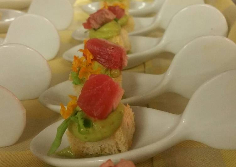 Spicy ahi avocado bites - Laurie G Edwards