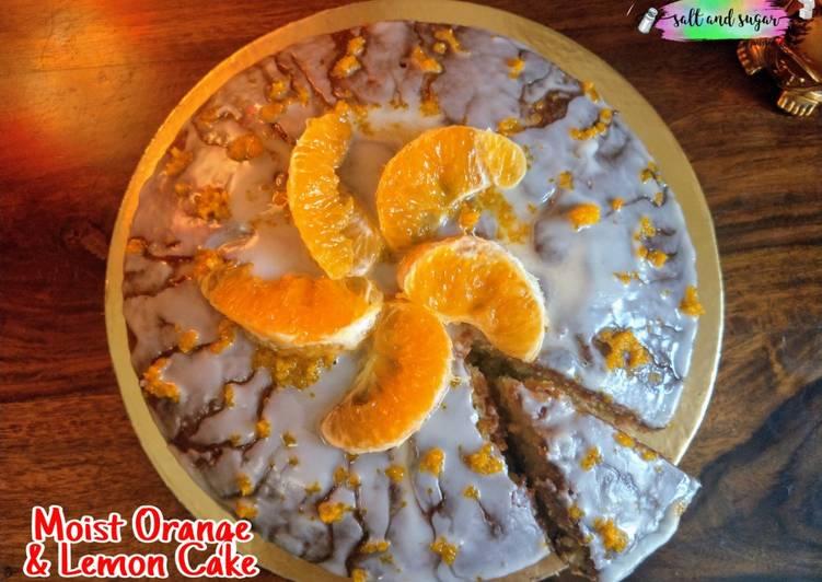 Moist Orange & Lemon cake