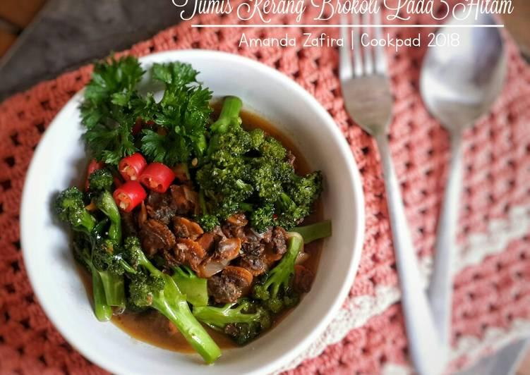 Tumis kerang brokoli lada hitam