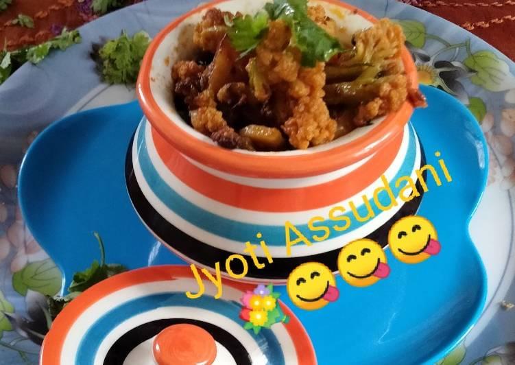 Cauliflower with Potato sabji Gobhi ki sabji