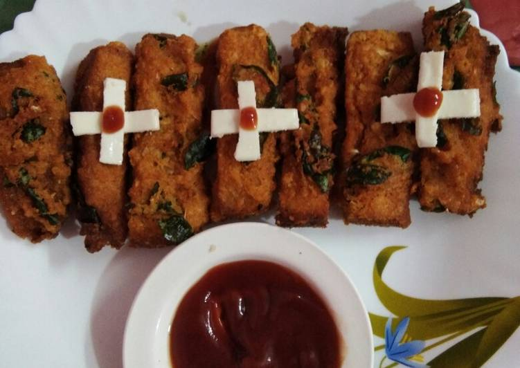 Red Lentils garlic bread sticks