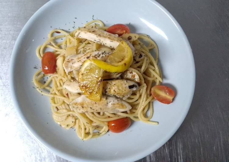Resep Aglio E Olio With Grilled Chicken Oleh Second Stuff Cookpad