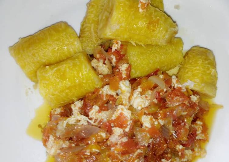 Boiled Plantain and Egg source