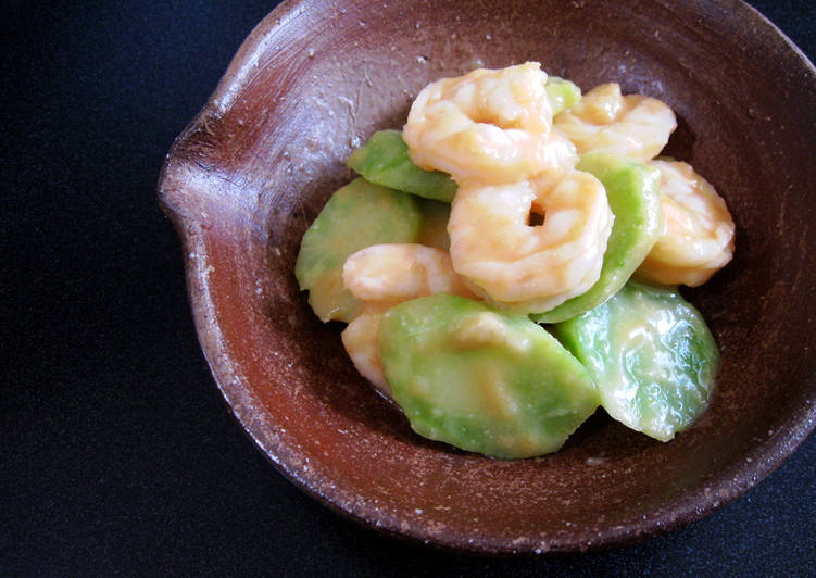 How to Cook Yummy Broccoli Stem & Prawns 'Nuta' Salad with Miso Dressing