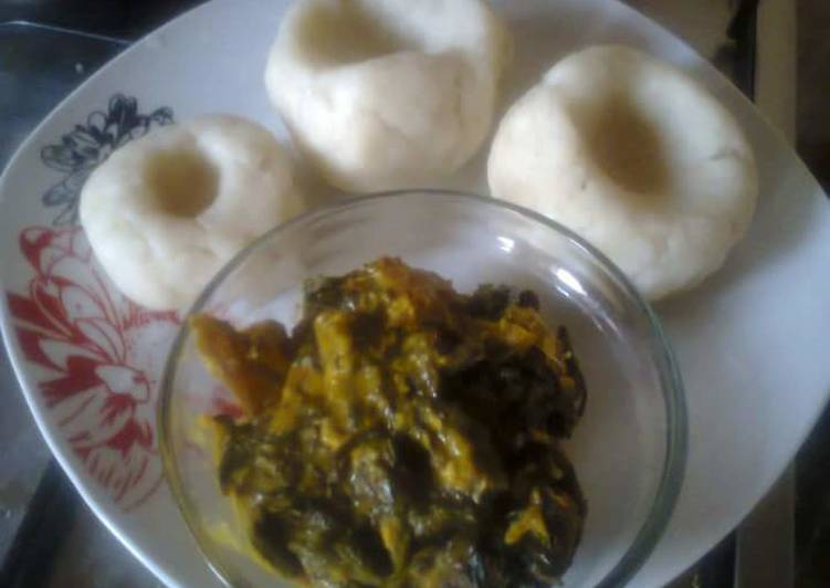 Bitterleaf Soup and pounded yam, Helping Your To Be Healthy And Strong with Food