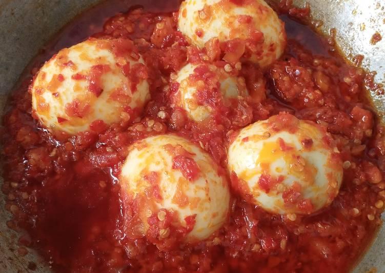 Telur balado super simple 4 bahan