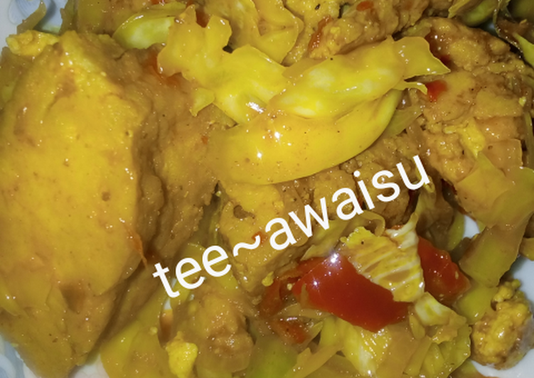 Recipe of Most Popular My special awara in cabbage sauce