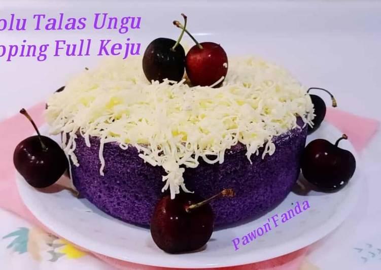 Bolu Talas Ungu /Cake Taro toping keju