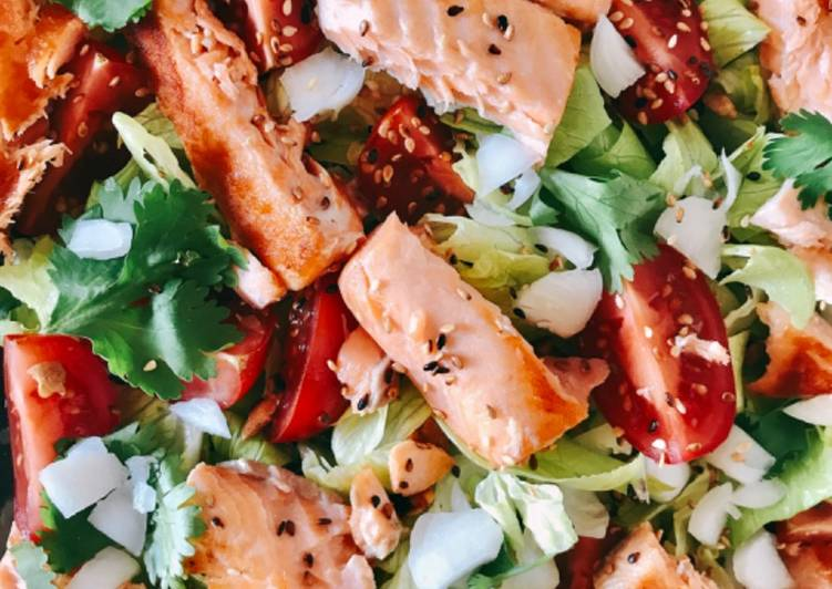 La Meilleur Recette De Salade au saumon