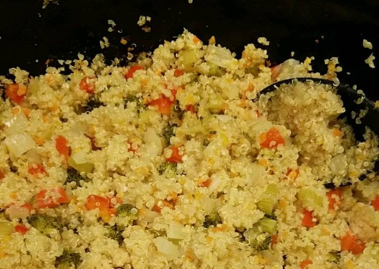 Crockpot quinoa and vegetables, Helping Your Heart with Food