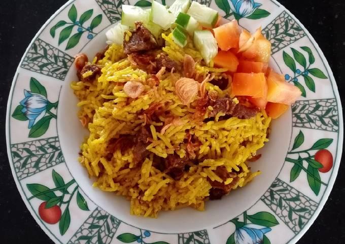 Bagaimana Membuat Nasi kebuli/mandhi/kabsah kambing magic com Anti Gagal