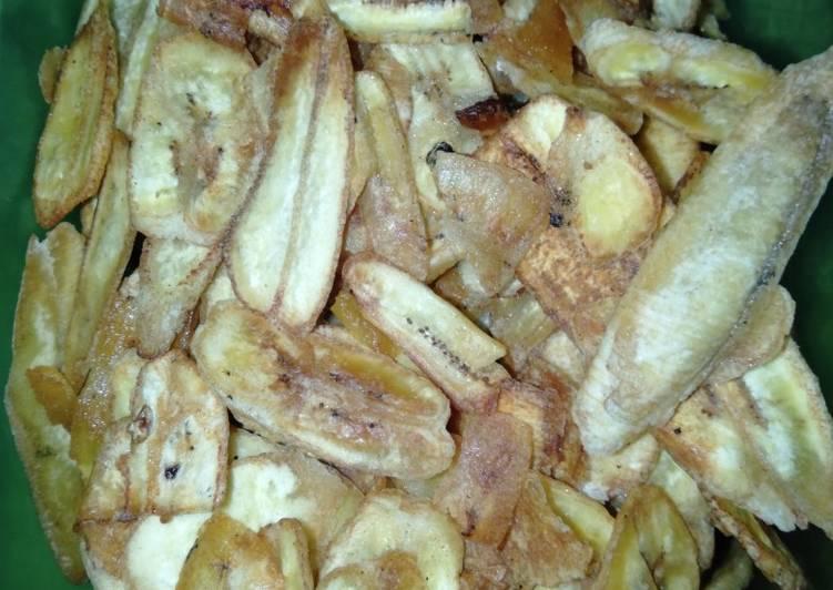 Keripik pisang kepok asin