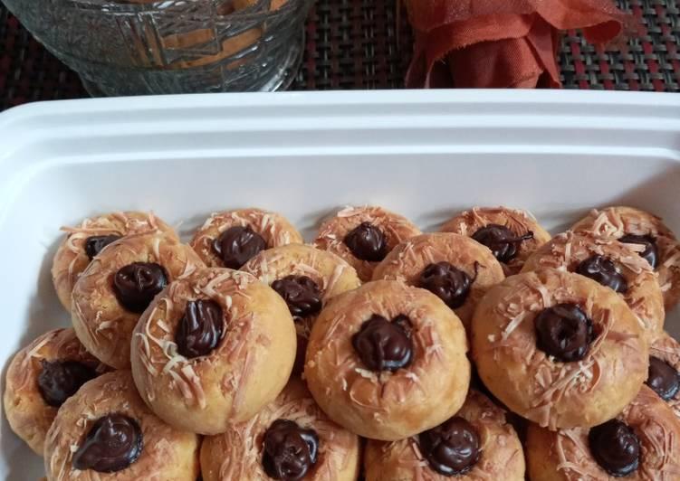 Choco Thumbprint Cookies