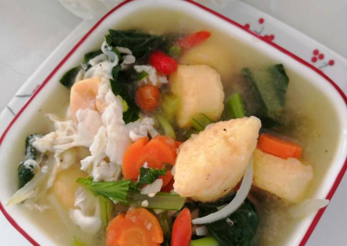Sup Sayur Tauhu Telur