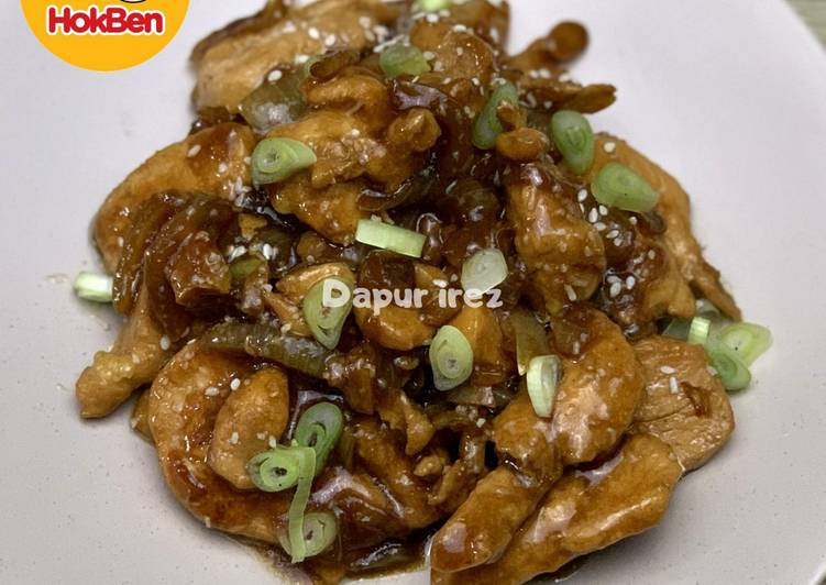 Chicken /ayam teriyaki ala hokben
