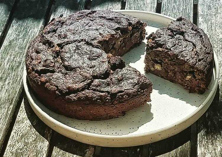 Gâteau choco-noisette vegan