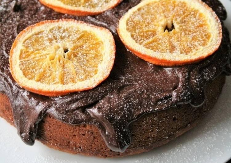 Cake à l'orange  sans gluten, sans lait, sans oeufs