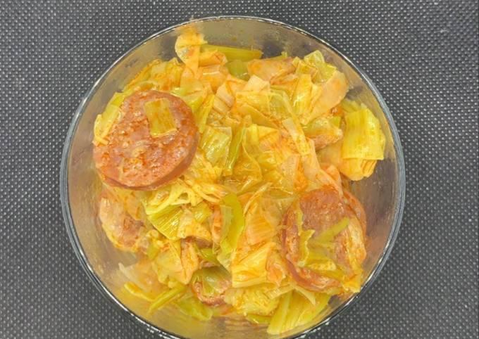 Fondue de poireaux au chorizo au Cookeo