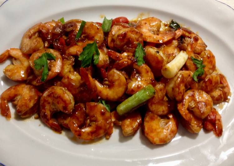 Shrimp in oyster sauce
