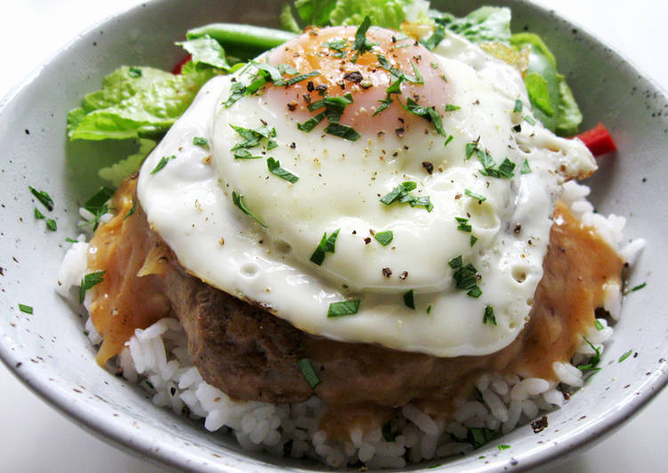 Recipe of Favorite 'Loco Moco' Hamburger Rice Bowl