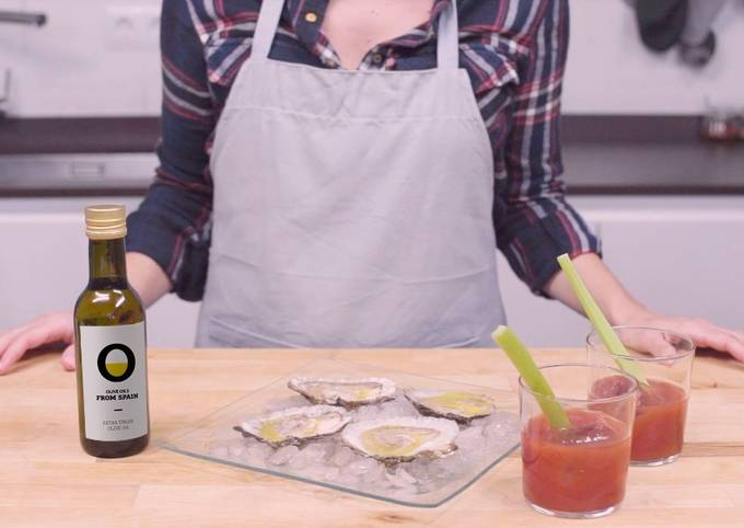 Bloody Mary and oysters