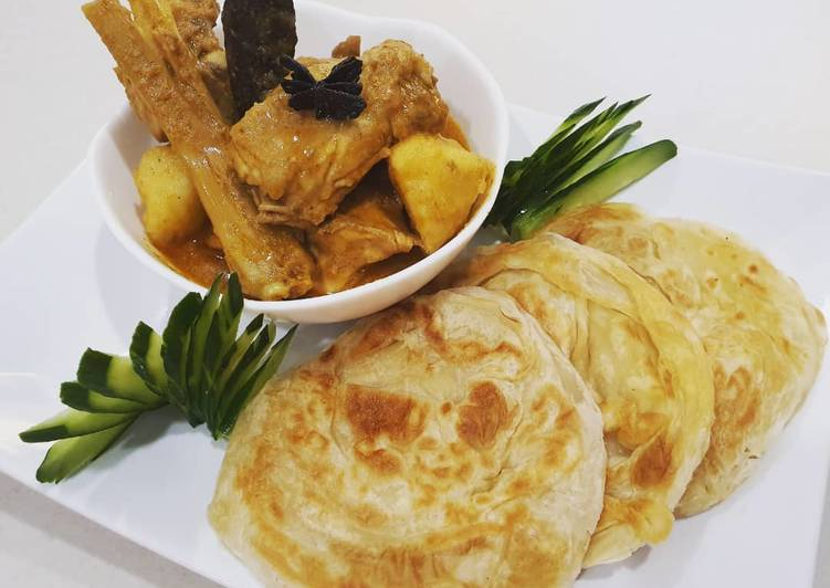 Yogurt Curry Chicken with Roti Canai Oat - velavinkabakery.com