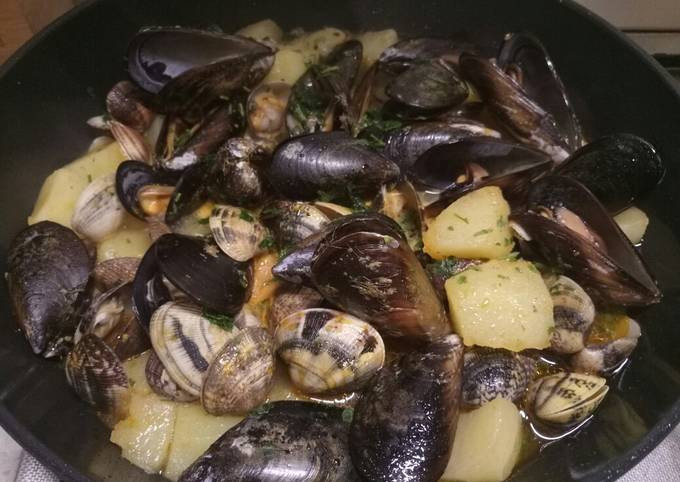 Potato and seafood stew